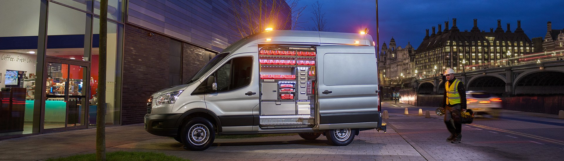 Modul System Complete Van Racking Systems White Ford Cargo Clip Art Connect Vehicle Electrics Made Simple