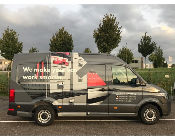 New demo van from Modul-System Benelux